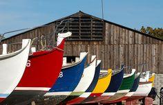 Les barques aux multiples couleurs du Cap Ferret ! #bois #authentique