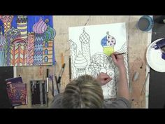 ▶ Pattern Study on St. Basil's Cathedral, Part 2: Art Projects for Kids - YouTube