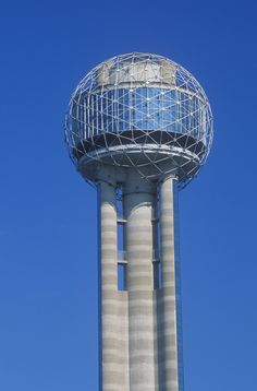 <h2>Reunion Tower</h2><br> It isn't the tallest or brightest building in downtown Dallas, but this 561-foot-tall, microphone-shaped structure is the first one everyone thinks of.
