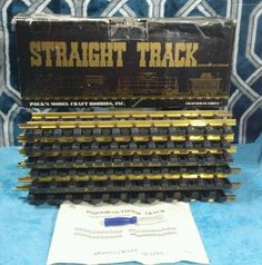 "Aristo-Craft Model Trains 45 mm 12"" Straight Track (12-pcs) G Scale 11000-12 #Aristocraft"
