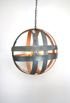 wine barrel ring sculpture