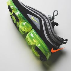 Who's in on the Air Vapormax 97? This new @nike silhouette fuses the Air Max 97 with Vapormax technology in timeless colors. Available Friday March 9.🔋 📷: @rsvpgallery Cute Shoes, Me Too Shoes, Athletic Gear, Best Sneakers, Air Max 97, Shoe Dazzle, Shoe Game, Cleats, Coin Purse