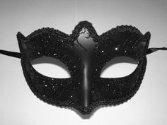 Mask provided for all V-Spot visitors to maintain anonymity. Black Glitter, Halloween Face Makeup, Red, Inspiration, Image, Beauty, Design, Polyvore, Biblical Inspiration