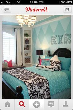 Cute teen girl bedroom with Pottery Barn-esque elements