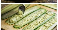 Cucumber Roll Ups - Carefully slice a cucumber into ribbons using a mandolin slicer or large vegetable peeler. Spread a thin layer of your f...