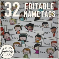This pack includes 32 different editable name tags for your classroom. Perfect for labelling desks, cubbies, book baskets, binders, coat hooks, boxes, and anything else you'd like! The labels' rectangular shape makes cutting simple and quick. Sixteen boy and sixteen girl options are included! #classroomsetup #backtoschool #nametags #classroom #labels #classroomorganization #teaching Classroom Setup, Classroom Organization, Classroom Labels, Cubby Name Tags, Book Baskets, Coat Hooks, Cubbies, Different, Decoration