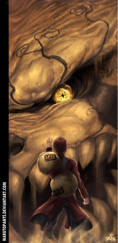 #Gaara and his one tail demon #Shukaku #NARUTO