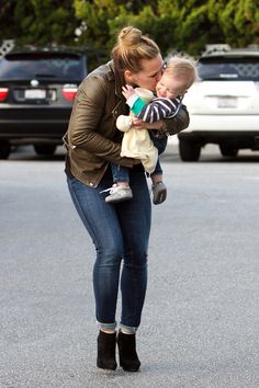 Hilary Duff and little Luca in Los Angeles.