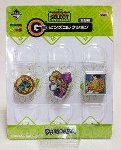 Dragon Ball Z Select Machines Prize G Pins Banpresto 3 JAPAN ANIME MANGA