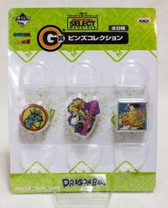 Dragon Ball Z Select Machines Prize G Pins Banpresto 3 JAPAN ANIME MANGA