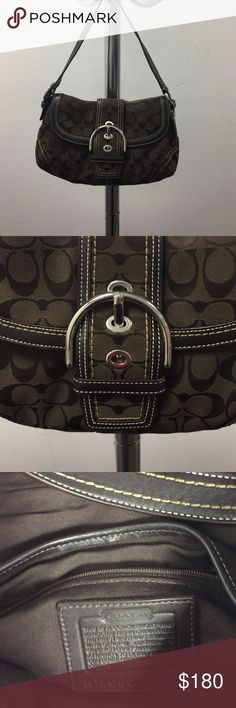 Signature Coach Series Soho Medium w/ wallet Chocolate Brown Medium Soho with matching wallet EUC. No marking inside or the bottom. EUC. Wallet is also in EUC ❤️ Coach Bags Shoulder Bags