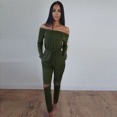 Cheap jumpsuit style, Buy Quality style jumpsuit directly from China jumpsuits for women Suppliers: Jumpsuits For Women Sexy 2018 Summer New Arrival High Street Style Elegant Long Sleeve Slash-Neck Off Shoulder Jumpsuit Rompers High Street Fashion, Street Style, Rompers Women, Jumpsuits For Women, Women's Rompers, Streetwear, Off Shoulder Jumpsuit, Slash, Long Romper