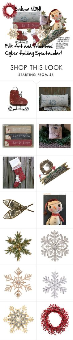 """""""Think SNOW!"""" by rusticrevivals ❤ liked on Polyvore featuring interior, interiors, interior design, home, home decor, interior decorating, National Tree Company, Anne Klein, John Lewis and Charter Club"""