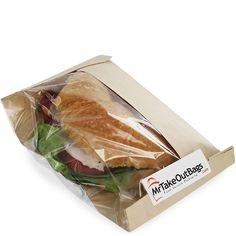 Share MrTakeOutBags.com with your friends and get a $2.00 off your order! Clear View Side Window Sandwich / Bread Bags - 6 x 2.5 x 9.375 in.