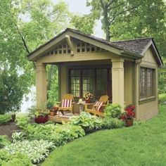 12x12 shed, add awning & re-purposed shingles.