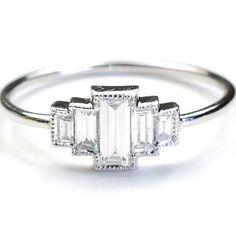 art deco wedding rings - Google Search