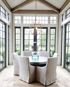 Dining Room Windows. Dining Room Floor to Ceiling Windows. Dining Room. Windows. #DiningRoom #Windows #DiningroomWindows Establish Design.