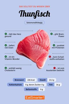 Big fish- Große Fische You Should Know About Tuna Keto Recipes, Healthy Recipes, Fish Recipes, Healthy Food List, Healthy Nutrition, Nutrition Shakes, Watermelon Nutrition, Dinner Healthy, Nutrition Tips