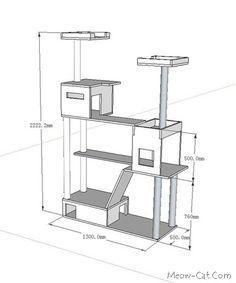 DIY Cat Tree Plans | Cat tree plan for 4 in 1 cat tower