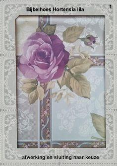 Bijbelhoezen : Bijbelhoes Hortensia lila vanaf € 4,-