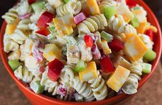 Cold Creamy Pasta Salad Recipes is One Of Liked Salad Of Several Persons Round the World. Besides Easy to Make and Good Taste, This Cold Creamy Pasta Salad Recipes Also Health Indeed. Easy Pasta Salad Recipe, Pasta Recipes, Cooking Recipes, Healthy Recipes, Summer Pasta Salad, Summer Salads, Summer Bbq, Summer Picnic, Cold Pasta