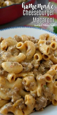Homemade Cheeseburger Macaroni is deliciously seasoned, loaded with cheese and can be on the table in 30 minutes. Homemade Cheeseburger Macaroni is deliciously seasoned, loaded with cheese and can be on the table in 30 minutes. Cheese Burger Macaroni, Hamburger Mac And Cheese, Macaroni And Cheese Casserole, Cheeseburger Pasta, Hamburger Meat Recipes, Casserole Recipes, Hamburger Casserole, Chicken Casserole, Hamburger Macaroni