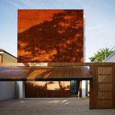 Built by Marcio Kogan in Sao Paulo, Brazil with date 2008. Images by Nelson Kon. Corten House is an urban house located near the largest park in the city of São Paulo, Brazil.   The site, long and n...