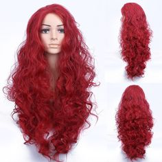Synthetic None-lacewigs Cosplay Wig Fei-show Synthetic Heat Resistant Fiber Long Curly Inclined Bangs Hair Women Halloween Costume Cos-play Hairpiece Neither Too Hard Nor Too Soft Synthetic Wigs