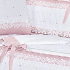 This Pin was discovered by Ker Baby Bedding Sets, Cot Bedding, Baby Pillows, Baby Girl Nursery Decor, Baby Decor, Baby Room, Cot Sets, Baby Hammock, Crochet Baby Dress Pattern