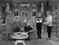 The cast of The Lucy Show  in the 1962 episode titled Together for Christmas