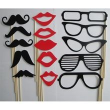 15Pcs/set New Fashion Photo Booth Props Moustache Lips Glasses On A Stick Party Birthday Wedding(China (Mainland))