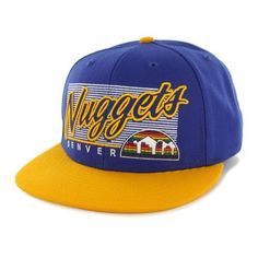 Denver Nuggets Embroidered Flat-Billed Snapback Cap by Forty Seven Brand by '47 Brand. $25.99. Front Embroidered Lofted Logo. Contrasting Bill & Undervisor. Straight Bill For A Vintage Look. 6 Panel Feature & Adjustable Snapback & Sweat Self Button Backstrap Design Closure Allows For A Perfect Fit Every Time. Officially Licensed by the NBA. Style: Kalvin MVP, Fabric: 85% Wool/15% Acrylic & Backstrap: Plastic. 47 Brand provides the quality all true fans desire in their gea...