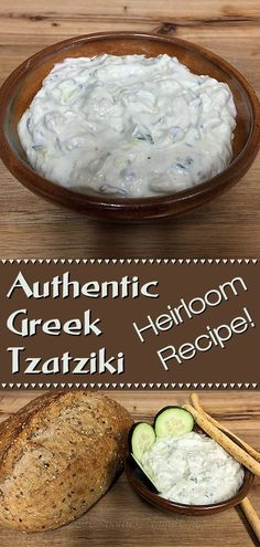 Authentic Greek Tzatziki - This recipe was generously gifted to me by a friend's Greek grandma. She told me that most Tzatziki recipes aren't traditional, as they have lemon and/or dill in them. Hers is the genuine recipe, the way it's served all over Gre Chef Recipes, Sauce Recipes, Appetizer Recipes, Dinner Recipes, Cooking Recipes, Healthy Recipes, Healthy Food, Greek Appetizers, Healthy Greek Recipes