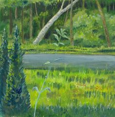 Through the window   landscape Painting