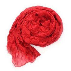 Women Winter Autumn Cotton Crinkle Long Soft Scarves