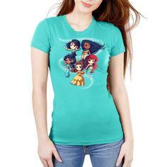 c220cfcc7 Enchanting Princesses Women's Ultra Slim T-Shirt Model Disney TeeTurtle  Disney Pocahontas, The Little