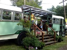Greenhouse Bus in Richmond, VASnider Bros. Greenhouse Bus in Richmond, VA Aquaponics System, Hydroponics, Greenhouse Cost, Greenhouse Ideas, Greenhouse Wedding, Cabana, St Ouen, School Bus House, Flower Shops