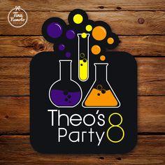 Crazy scientist party. Painel para festa do Theo - Cientista Maluco.                                                                                                                                                     Mais