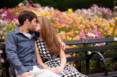 A kiss in the gardens.  By Tessa Marie Weddings