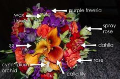 wouldn't it be nice if all flower pictures included the types of flowers? I do like the summer colors in this bouquet