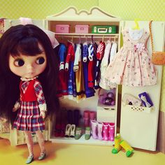 There will never be enough clothes in #blythe's wardrobe - @dannie_aka- #webstagram