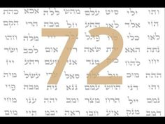 72 Names of God - 72 Nombres de Dios - Shema Yisrael