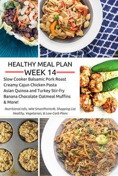 Healthy Meal Plans Week 14 - Slender Kitchen