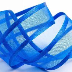 Royal Blue Satin Edge Organza Ribbon Size: x 5 yards Coming flat packed, not in a roll. Organza Ribbon, Burlap Ribbon, Ribbon Crafts, Blue Ribbon, Royal Blue Wedding Decorations, Ribbon Decorations, Blue Tablecloth, Blue Crafts, Bleu Royal