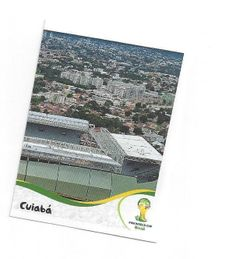 FIFA WM 2014 World Cup Brasil Panini Sticker Nr. 13  rechter Teil  des Stadion