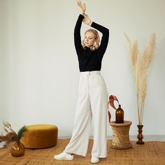 Sustainable Clothing, Sustainable Design, Turtle Top, Turtle Neck, Happy Turtle, Bow Slides, Gift Of Time, New Earth, Wide Pants