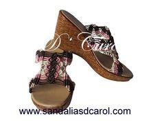 Sandalias macramé Dcarol Amanecer Clave: 019 a $449.00