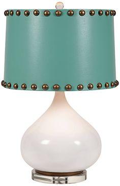 Abelie Crisp White Teardrop Table Lamp - #12J08 | Lamps Plus