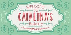 Catalina - Webfont & Desktop font « MyFonts Versatile Font Family including a script and more... #fontfamily #font #fontdesign #fonts #bakery #typedesign