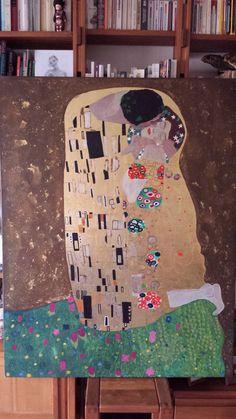 Klimt. Le baiser.© Elise Mangin